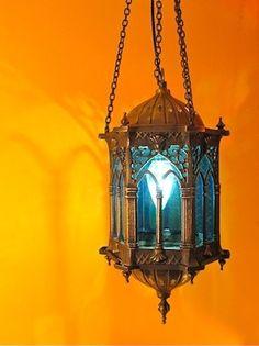 HANGING TURKISH LAMP-OLD CITY LAMP- GOTHIC WINDOW