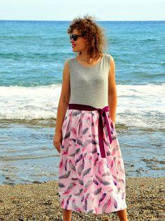 Summer Sundress for Women Cotton Pleated Sun Dress | Etsy Summer Outfits Women, Summer Dresses, Boho Style Dresses, Mint Dress, Custom Leather, Summer Clothes, Sun, Clothes For Women, Stylish
