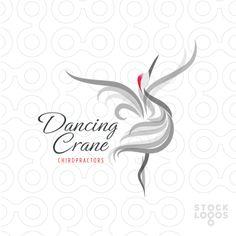 Exclusive Customizable Logo For Sale: dancing crane chiropractor   StockLogos.com