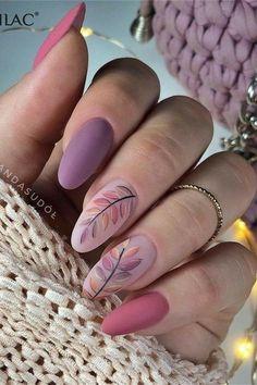 Cute Acrylic Nail Designs, Cute Acrylic Nails, Cute Nails, Fall Nail Designs, Stylish Nails, Trendy Nails, Nail Manicure, Diy Nails, Nail Art Designs Videos