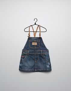 DENIM PINAFORE DRESS - Dresses - Baby girl (3-36 months) - Kids - ZARA United States