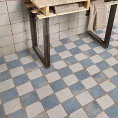 Add a wonderful look to your home by choosing this wonderful Merola Tile Artisan Damero Azul Ceramic Floor and Wall Tile. Bathroom Flooring, Kitchen Flooring, Ceramic Flooring, Tile Flooring, Garage Flooring, Modern Flooring, Unique Flooring, Online Tile Store, Tiles Online