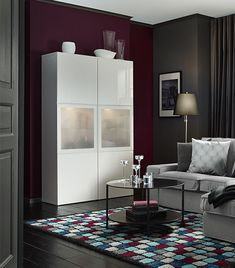 Ikea living room design ideas west end studio by the cross interior Burgundy Room, Burgundy Living Room, Ikea Living Room, Burgundy Walls, Living Room Designs, Living Room Color, Rugs In Living Room, Living Room Grey, House Interior
