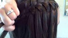 Hairstyle - Waterfall Braid (Self)   Cute Girls Hairstyles