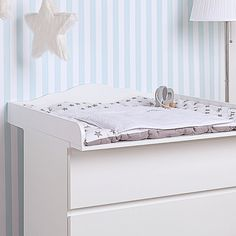 Cloud 4 Changer, changing table top in white for all IKEA Malm dressers with a depth of 48-49cm. (It is just the changing table top, not the whole