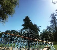 Summertime and the livins almost easy #week10 #yourschoolyourview #ucdavis #hammocklife #somanyessaystholol #davis by @ailujheath