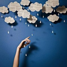 Wolken, van tekst, speciaal voor de KBW.