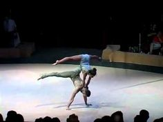 Hand to hand act by Valeriy & Yulia - YouTube