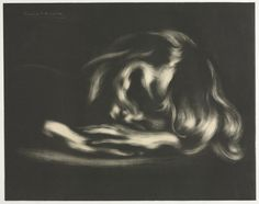 Eugène Carrière (French, 1849-1906), Sleep (Jean-René Carrière), 1897, lithograph (Cleveland Museum of Art).  [via billyjane:theshipthatflew]
