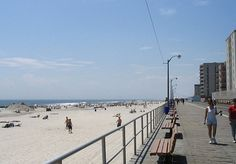 Long Beach Ny Boardwalk New York Laying On The