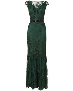 Occasion Dresses | Green Cindy Lace Full Length Dress | Phase Eight ~Maybe a wedding dress (but in another color) for a vow renewal or 2nd wedding?