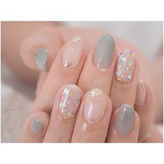Tere Clear nails create a sense of adulthood and comfort. Asian Nail Art, Asian Nails, Korean Nail Art, Korean Nails, Pretty Nail Art, Cute Nail Art, Gel Nail Art, Cute Nails, Kawaii Nails
