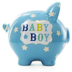 Baby Boy Piggy Bank