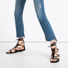 LEATHER LACE-UP SANDALS-View all-WOMAN-NEW IN | ZARA United States