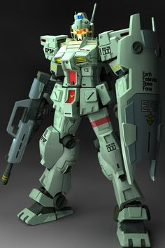 RGM-79N GM Custom is a limited-production general-purpose mobile suit, that first appeared in Mobile Suit Gundam 0083: Stardust Memory. Front