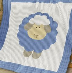 Crochet Pattern | Baby Blanket / Afghan - Sheep