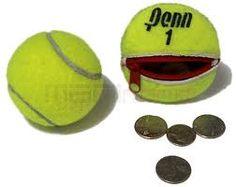 monedero hecho con pelota de tenis.19bis.com