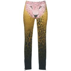 Giamba     Cheetah Print Leggings ($1,280) ❤ liked on Polyvore featuring pants, leggings, print, patterned pants, cheetah print pants, high-waist trousers, high waisted pants and print leggings