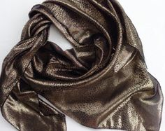 Brown Gold scarf Snakeskin Print scarf, Animal print scarf, Holiday gift, Sparkle scarf, Gift for Secretary Leatherlook Office Work clothes by blingscarves. Explore more products on http://blingscarves.etsy.com