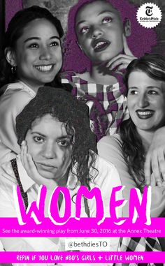 Sarcastic feminist pinners, you have to go see Women! An award-winning feminist mashup by Chiara Atik is coming to Canada for the first time this June. You don't have to sell your hair to see this play: tickets are just $12. They're selling fast at fringetoronto.com! #toronto #feminism #badass #comedy