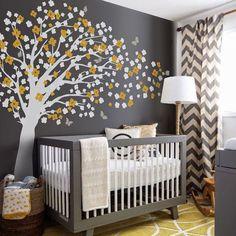 Nursery Wall Decal  Romantic cherry blossom tree by pinknbluebaby