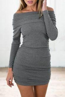 Bodycon Solid Color Spaghetti Straps Dress 41951911743a