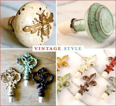 vintage wine stoppers as wedding favors! Another idea would be coffee beans in simple burlap bags. You could right,