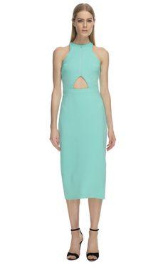 Cushnie et Ochs Aqua Neoprene Dress