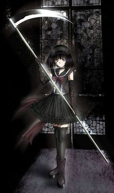 I want the scythe she's carrying