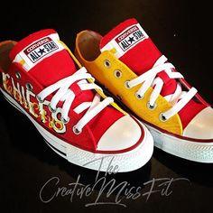 3951db614927 Chiefs Inspired Custom Painted Chucks