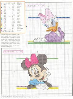 Daisy, Minnie cross stitch
