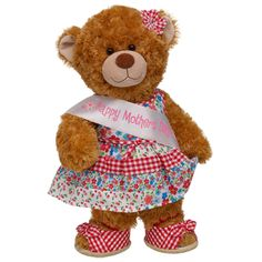 Give a little love and good wishes to your mom this Mother's Day. This read teddy makes a pawfect gift for her. $39.50
