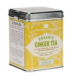 Chopra Center Organic Ginger Tea – Tea Sachets, Tin of 20 Chopra Center, Twinings Tea, Relaxing Tea, Green Tea Bags, Food Poster Design, Tea Packaging, Tea Tins, Ginger Tea, Ayurveda