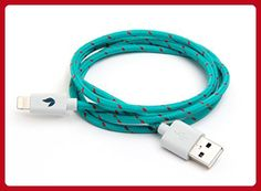 High Durability Apple Lightning Charge & Sync Cable - Apple MFi Certified - 1 Meter (Kelp Color) - Little daily helpers (*Amazon Partner-Link)