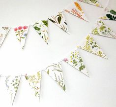 Wedding decoration Wild Flower Bunting Floral di peonyandthistle, £12.00