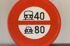 Amazing Vintage French Enamel Road Sign Traffic by SooooFrenchy, €180.00