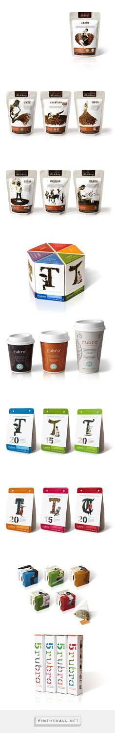 Rubra coffee packaging design, tea packaging design via Dessein curated by Packaging Diva PD. Packaging expressing the individual characteristic of the product with the individual personality of the consumer.