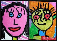 Autorretrat pop-art. Témpera sobre cartolina. 5 anys.