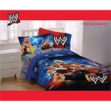 WWE Wrestling Champions Bedding Comforter and sheets TWIn BED IN A BAG SET by WWE. $104.99. With the WWE Wrestling Champions Comforter and  Sheet Set, your child will be ready to rumble. This fun bed in a bag  set is perfect for any young wrestling fan's bedroom.