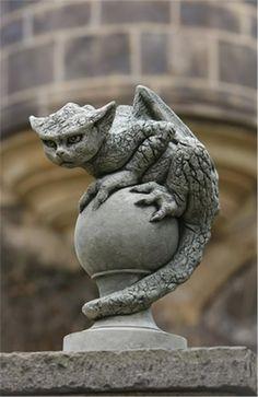 Oscar Dragon Garden Statue From the Garden Gates Store in Metairie, LA.  I love him!
