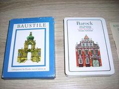 Baustile Lehrquartett unbenutzte Karten Altenburg DDR TOP