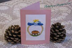 wedding card, rabbits, cross stitch