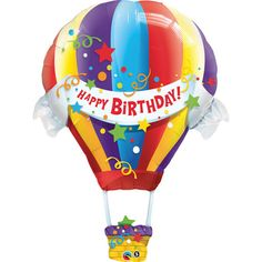 Check out Hot Air Balloon Birthday 42 Balloon (Each) - Cheap Accessories and…