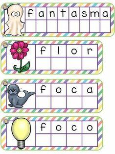 Palabras de dos sílabas Spanish Activities, Activities For Kids, Letter Worksheets, Spanish Vocabulary, Literacy Skills, Pre School, Phonics, Kids Learning, Homeschool