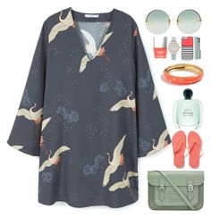 """""""Swans Don't Fly"""" by egordon2 ❤ liked on Polyvore featuring MANGO, The Cambridge Satchel Company, Old Navy, Linda Farrow, Olivia Burton, Casetify, Too Faced Cosmetics and J.Crew"""
