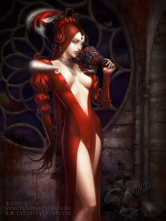 ✯ Red: Vampire Character for Collectible Card Game .. By *Kir-tat*✯