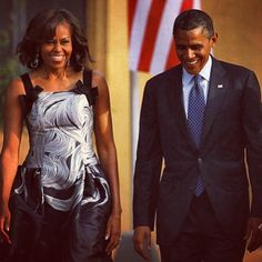 Barack and Michelle Obama in Berlin.