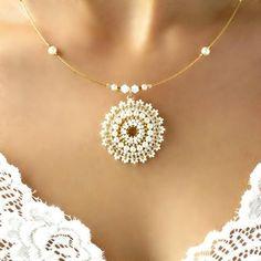 Collar colgante de perla para novia collar nupcial de boda image 1