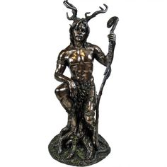 Herne also known as Herne The Hunter, Lord of the Wood's, Nature Spirit but to say a few. He is the God aspect in Wicca, he presides over all nature. Take a walk in the wood's, feel him, sense him, feel his energy, he will be there in the whisper of the trees looking after all that live there. This stunning figurine is perfect for your Altar or mantle, made of cold cast resin in bronze effect. A Nemesis Now product. Approx. size 27.5cm. Product Number: NOW4000