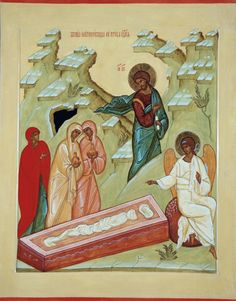 The Holy Myrrh-bearers at the Tomb of The Lord  /